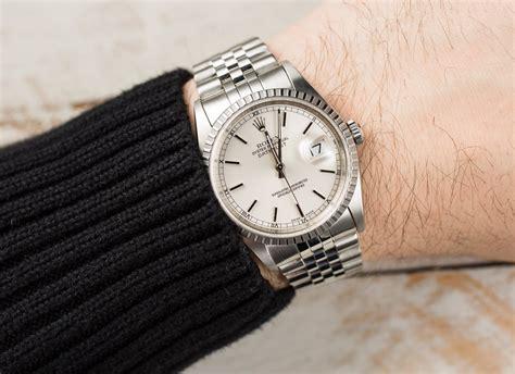 rolex datejust stainless 16220 jubilee bracelet