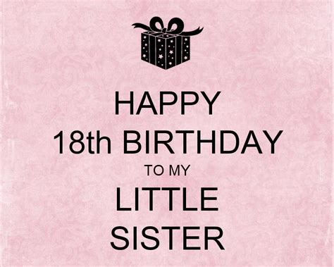 Happy 18th Birthday Wishes To My Happy 18th Birthday My Little Sister Nicewishes