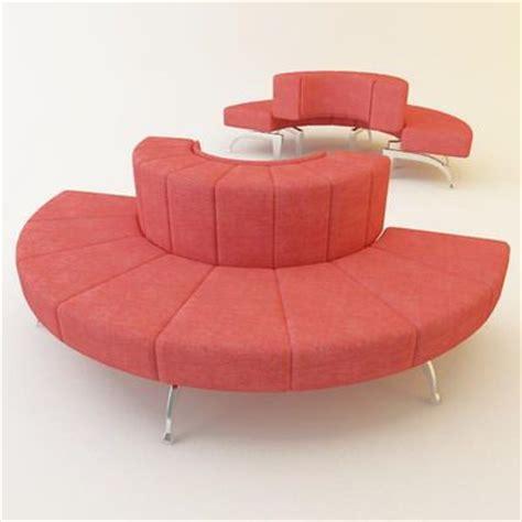high tech sofa 3d model sofa semicircular high tech moroso waiting cod