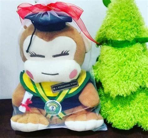 Boneka Wisuda Monyet monyet boneka wisuda unmul kado wisudaku