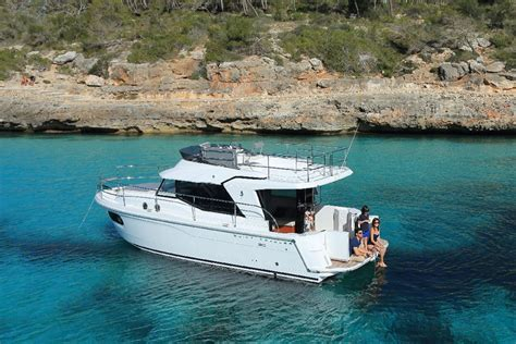 small boat on yacht beneteau swift trawler 30 pocket cruising for couples