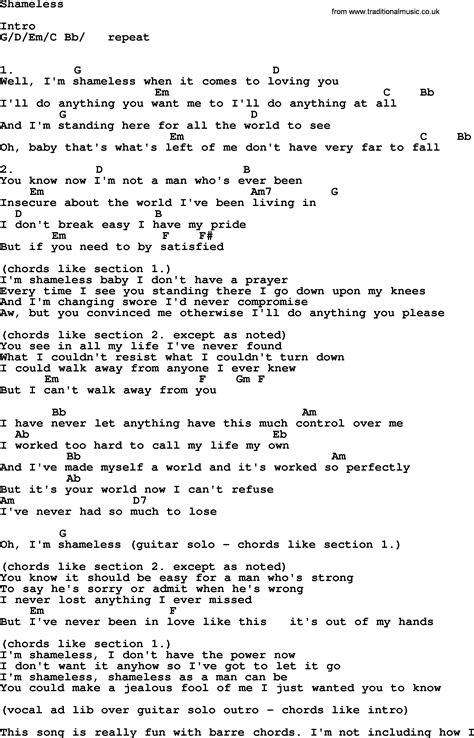 Garth Brooks Guitar Chords And Lyrics