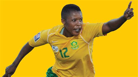 portia modise gestures as as the south african olympic team depart portia modise is the only african footballer to score up