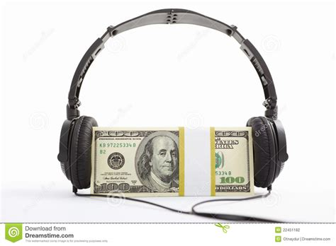 money and headphone stock photo image of still money 22451182