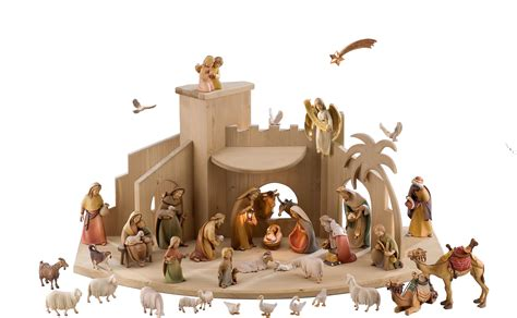 gloria nativity scene set by lepi manger figures