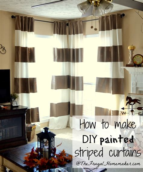 Diy painted striped curtains yes i painted my curtains