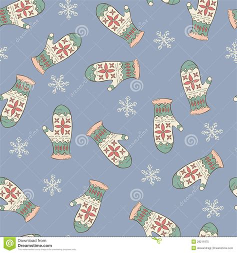 seamless mitten pattern seamless pattern with mittens royalty free stock photo