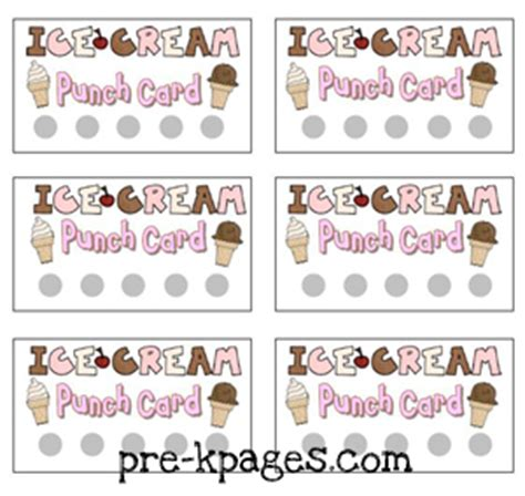 Dollar Punch Card Template by Dramatic Play