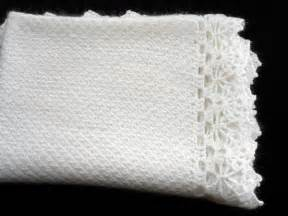 knitted baby blanket white mohair