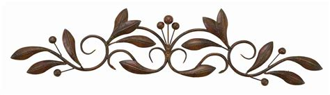 Decorative Sculptures For The Home by Small Buds Amp Vines Metal Wall Art Scroll