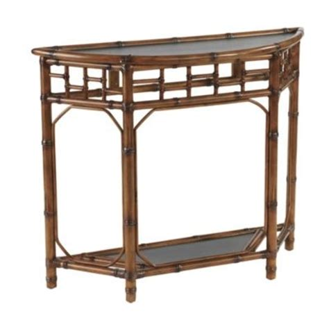 Rattan Console Table Rattan Chinoiserie Console Table Rattan