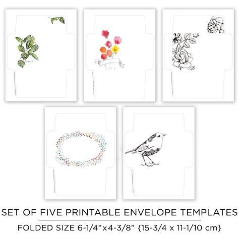 Printable Envelope Art | printable mail art envelope templates the postman s knock