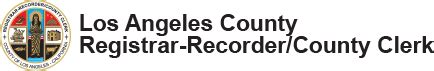 La County Registrar Recorder Marriage License About