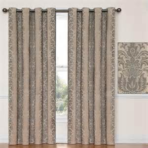 Eclipse Energy Saving Curtains Nadya Thermalayer Taupe Blackout Curtain Panels