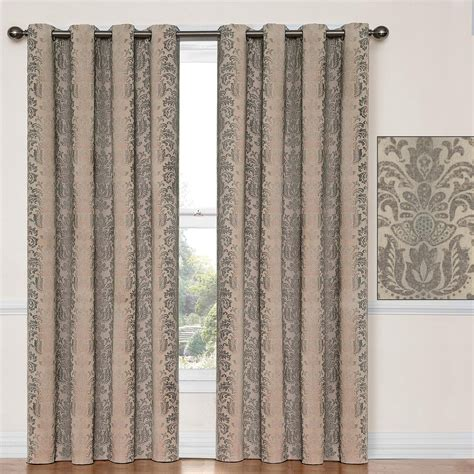 taupe blackout curtains nadya thermalayer taupe blackout curtain panels