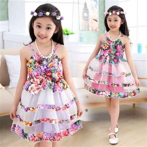 Dress Baju Bayi Anak Motif Cupcake Pink 2015 new summer floral baby dress sleeveless princess