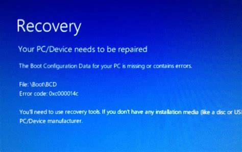 windows 10 startet nicht mehr recovery your pc device needs to be repaired ak edv