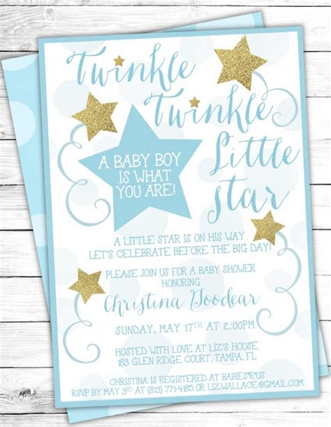 Twinkle Baby Shower Invitations by Twinkle Twinkle Theme Planning Ideas Supplies Partyideapros