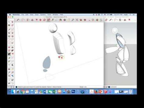 google sketchup robot tutorial drawing a robot google sketchup youtube