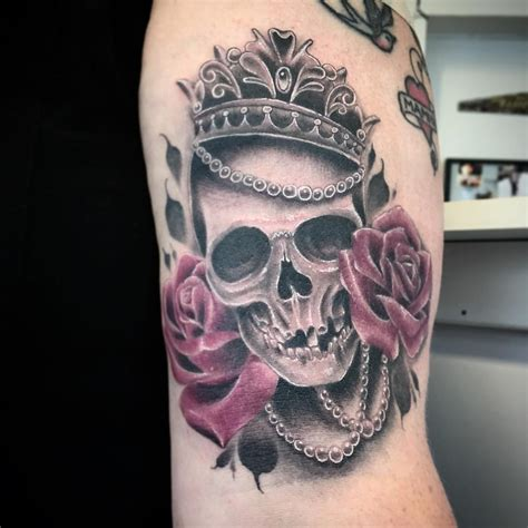 skull with crown tattoo tattoo collections