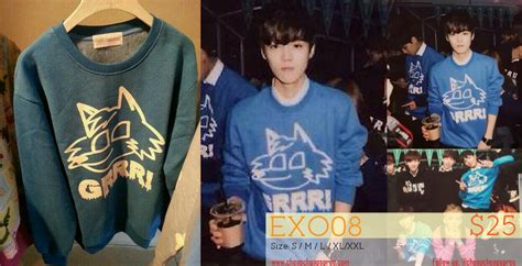 Sweater Exo By Retrouve Merch exo merchandise boy who cried wolf bwcw singapore