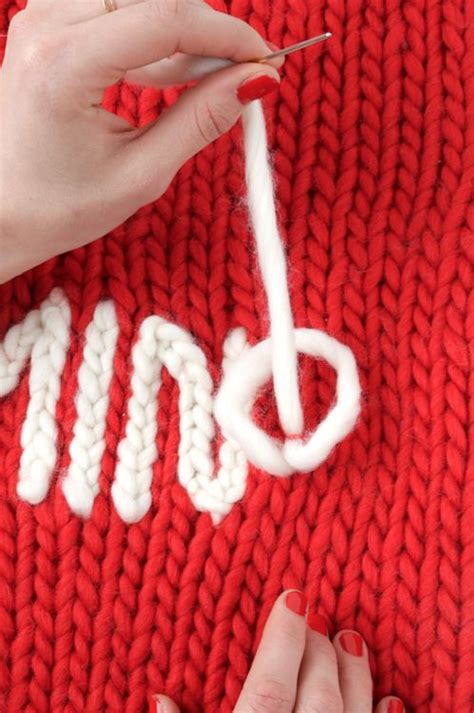 embroider knitting diy chain stitch embroidery loom knitting