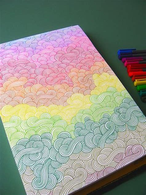 rainbow doodle drawing 40 beautiful doodle ideas page 2 of 2 bored