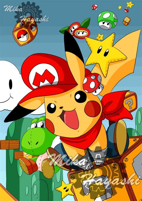 pikachumario mario pikachu pictures to pin on pinterest