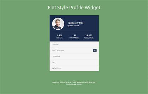 Profile Html Template