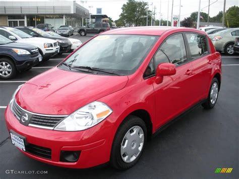 red nissan 2008 2008 red alert nissan versa 1 8 s hatchback 15915783