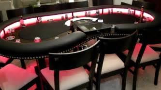 Custom Gaming Table Custom Lighted Kidney Shaped Poker Table Youtube
