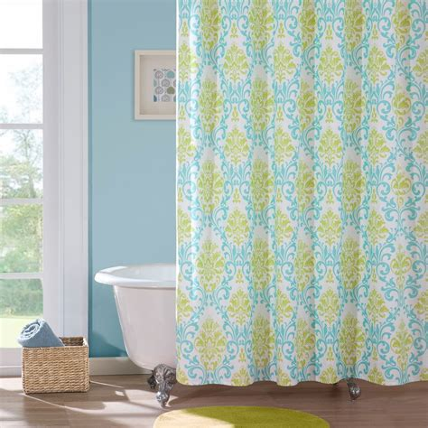 Yellow And Teal Bathroom Yellow And Aqua Shower Curtain Curtain Menzilperde Net