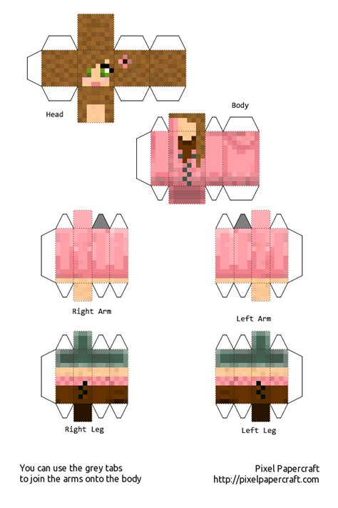Pixel Papercraft Print - papercraft mca 15 follower special