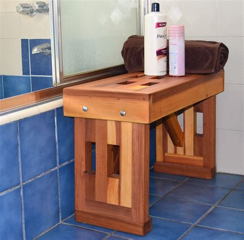 redwood shower bench lighthouse shower benches built to last decades forever