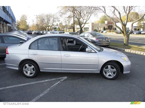satin silver metallic 2005 honda civic ex sedan exterior