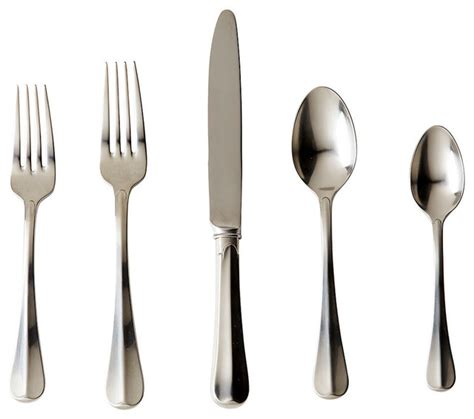 forrest 5 piece flatware set set of 4 stainless steel bliss home design bistro 5 piece flatware place setting