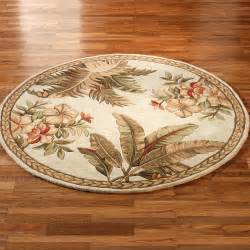 tropical retreat round area rugs