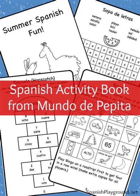spanish novels pasaje de spanish activity book mundo de pepita spanish playground