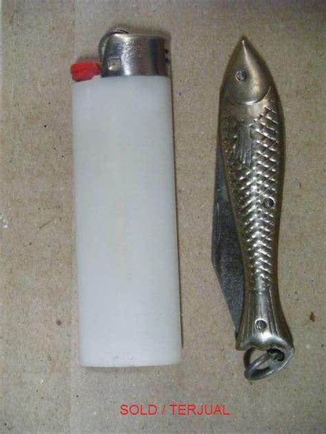 Pisau Ikan antik curio reklame lama vintage retro djojosoepoko pisau motif ikan