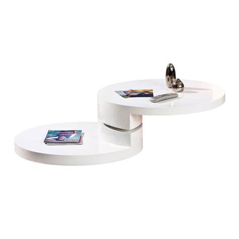 table basse ronde pivotante quot serena quot blanc