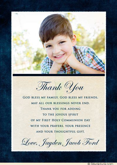 Holy Communion Thank You Cards Template by Thoughtful Communion Boy Thank You Cards Boys Blue And