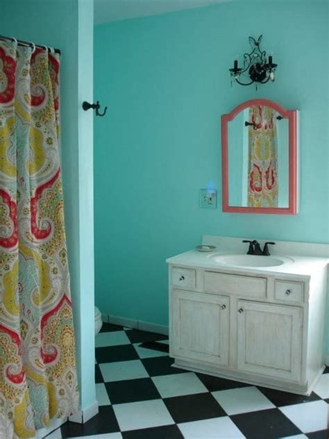 turquoise and coral bathroom 1000 ideas about coral shower curtains on pinterest