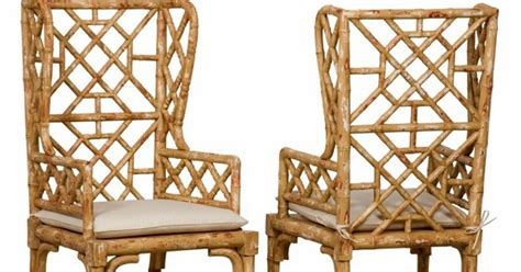 chinoiserie chic bamboo wing back chairs chinoiserie chic bamboo wing back chairs