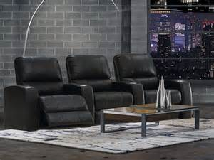 black leather sofa theater home theater sectional