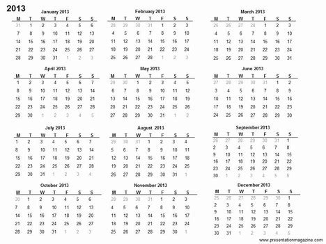 printable card template powerpoint 2013 free 2013 printable calendar template