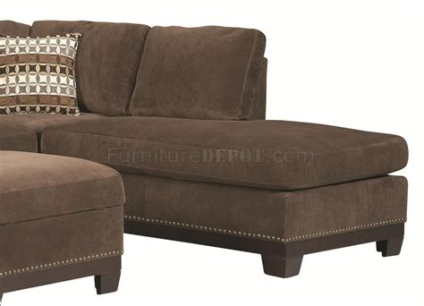 503645 Mason Sectional Sofa In Chocolate Fabric By Coaster Coaster Sectional Sofa