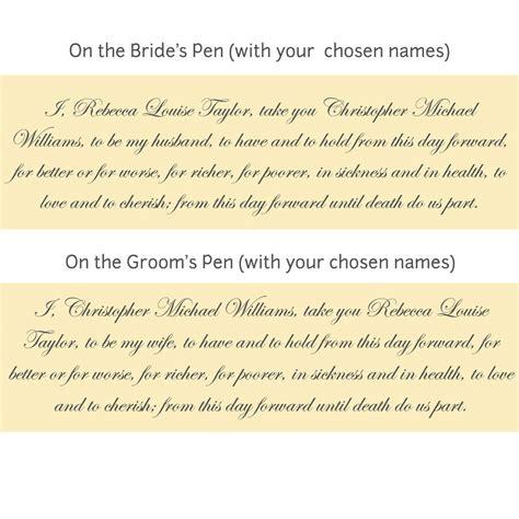 Wedding Vow Exles by Wedding Vows Format Wedding Ideas 2018