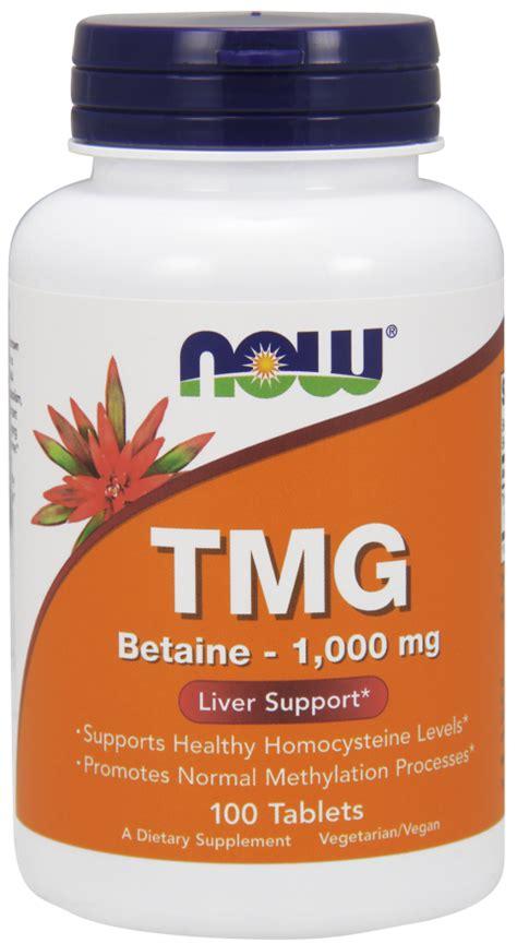 Tmg Detox by Tmg Trimethylglycine 1 000 Mg Tablets Now Foods