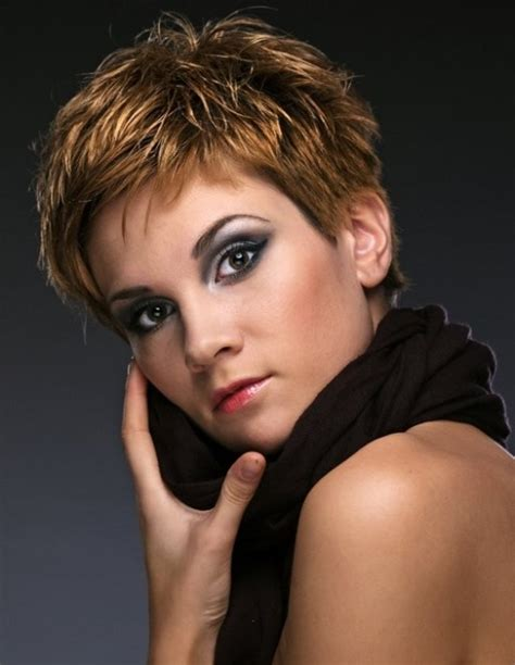 very short hairstyle with highlights lift and a bump on 30 sweet dark brown hair with caramel highlights creativefan