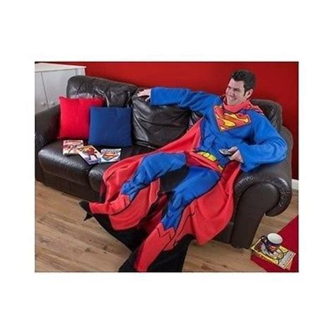 comfort blankets for adults superman adult sleeved fleece blanket wrap relax gaming
